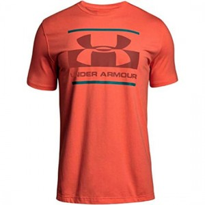 Under Armour Blocked Sportstle Logo Orange Koszulka Męska 1305667 847