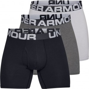 Bokserki Męskie UNDER ARMOUR Charged Cotton Boxerjock® 6IN 3 Pack