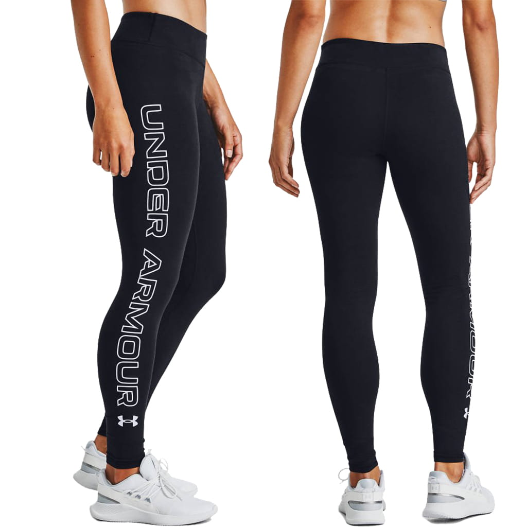 Legginsy Damskie UNDER ARMOUR Favorite Wordmark 1356403-001 1.jpg